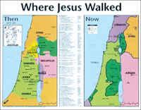 Where Jesus Walked Wall Chart- Laminated