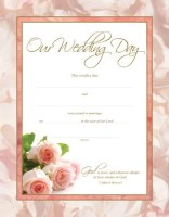 Marriage Certificates - Roses - Pk of 6