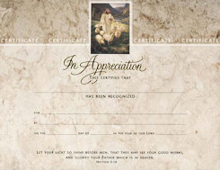 Baptism Certificates Package of 6