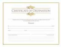 Deacon Ordination Certificate