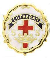 Lutheran Cross and Crown One Year Pin