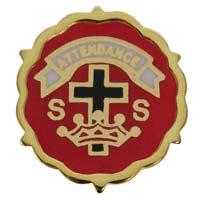 Cross & Crown Lutheran 6 Month Pins