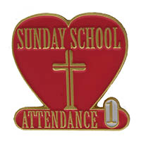 Year 1 Sunday School Attendance Pin