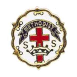Methodist Cross and Crown Sunday School  One Year Pin