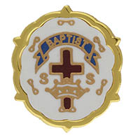 Baptist Cross and Crown One Year Pin