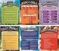Bible Learning Charts - Set of 6