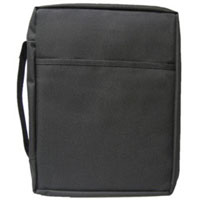 Economy Black Canvas Bible Cover