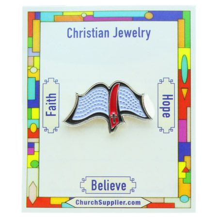 Bible Lapel Pin - Carded