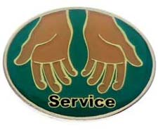Church Service Lapel Pins With Hands