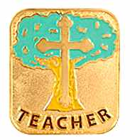 Teacher Christian Recognition Lapel Pin