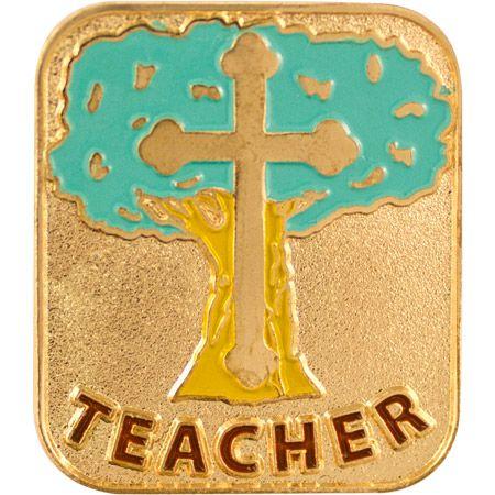 Teacher Christian Recognition Lapel Pin