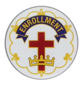 Cross & Crown Enrollment Button Pins