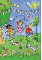God Loves You Postcards Pkg of 25's