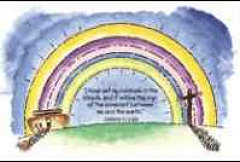 Rainbow Christian Postcards (Pkg of 25)