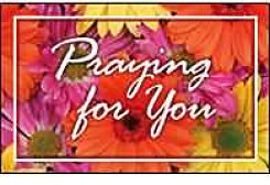 Praying for You Postcard