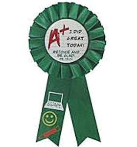 I Did Great Today Christian Award Rosette Ribbon