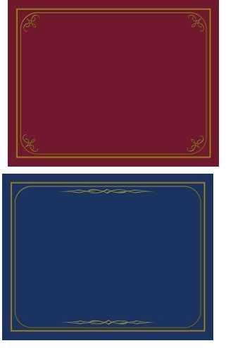Certificate Holders Navy or Burgundy Pk of 6