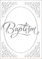 Baptism Certificates 5x7 - Pk of 6