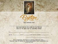 Baptism Certificates with Jesus Foil (Pkg of 6)