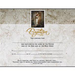 Baptism Certificates with Jesus Foil (Pkg of 6)