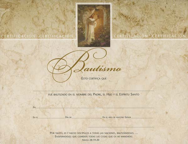 Spanish Bautismo Certificates - Pk of 6