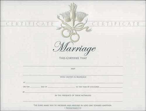 Marriage Certificates Foil Premium - Pk of 6