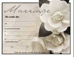 Marriage Certificates White Flower - Pk of 6