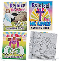 He Lives Easter Coloring Book  Pack of 12