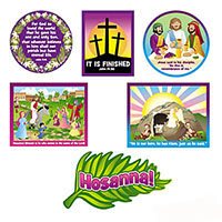 Easter Classroom Holy Week Cut-Outs