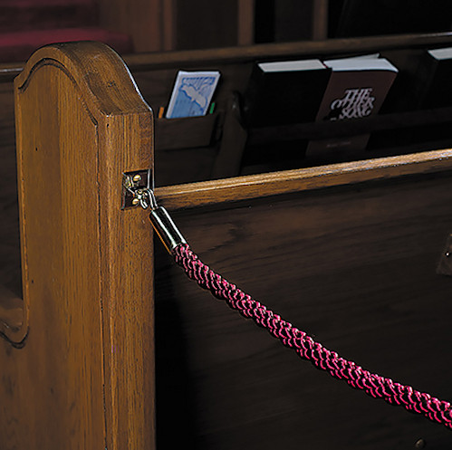 Permanent Pew Ropes