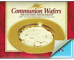 Communion Bread Wafers Round (Pack of 1000)