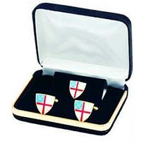 Epsicopal Shield Cufflinks w/Tie Tac