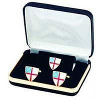 Episcopal Shield Cufflinks & Tie Tac