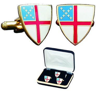 Episcopal Shield Cufflinks & Tie Tac