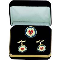 Lutheran Rose French Cufflink Set
