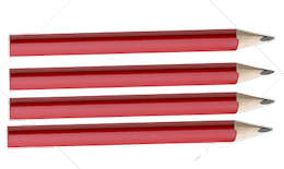Red Church or Golf Pencils (Pkg of 100)