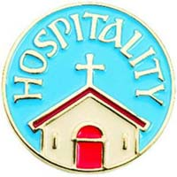 Hospitality Pin Badge Blue