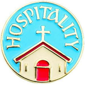 Hospitality Pin Badge Blue