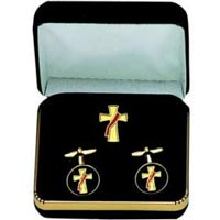 Gold Deacon Diaconos Cuff Links