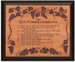 Framed Ten Commandments Wall Sign  36 Inch