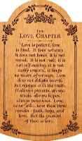 Large  Love Chapter Carved Tablet