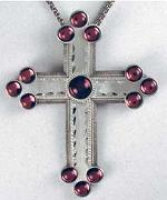 Gold Trinity Pectoral Cross Necklace