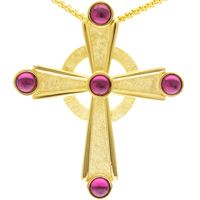 Gold Plated Celtic Pectoral Cross Necklace