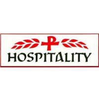 Hospitality Badge Pin White
