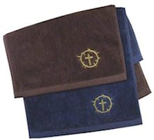 Crown of Thorns Clergy Towel Burgundy
