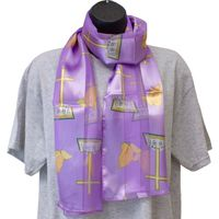 Prayer Hands & Cross Satin Scarf