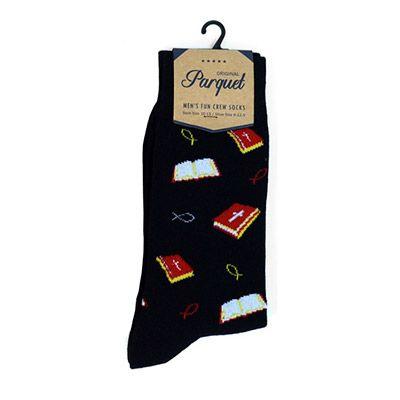 Bible and Jesus Fish Novelty Socks