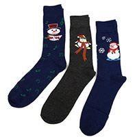 3 Pairs Pack Christmas Snowman Socks