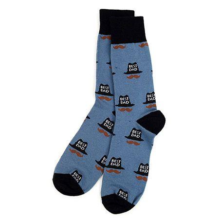 Best Dad Blue Novelty Socks