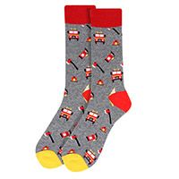 Firefighter Novelty Gray Socks